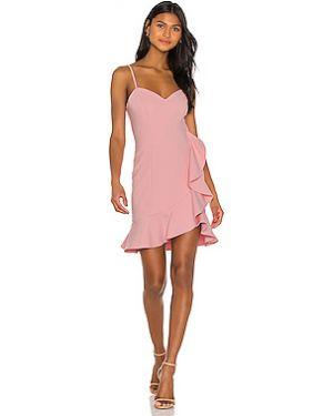 Шелковое розовое платье мини на бретелях на молнии Likely