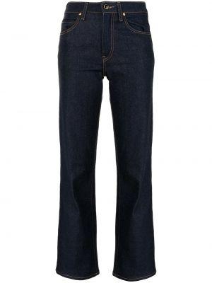 Расклешенные синие с завышенной талией джинсы Khaite