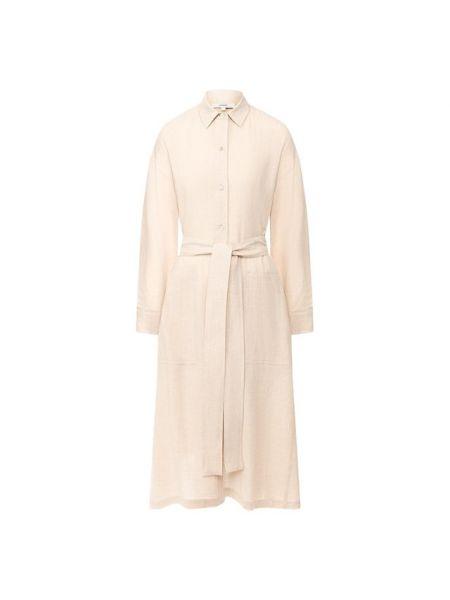 Платье мини с поясом платье-рубашка Vince.