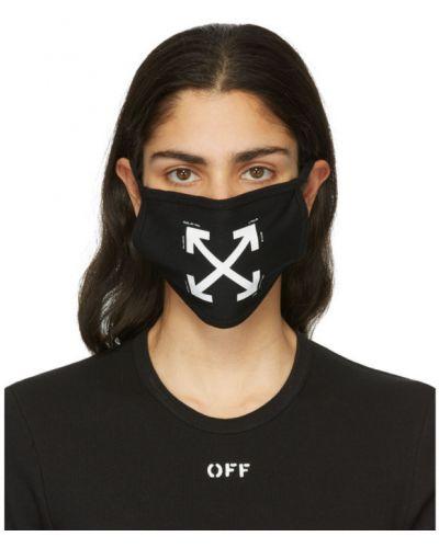 Bawełna bawełna czarny maska do twarzy Off-white