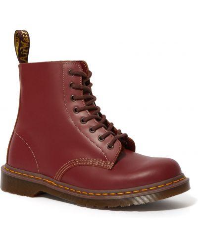 Красные кожаные ботинки винтажные Dr Martens