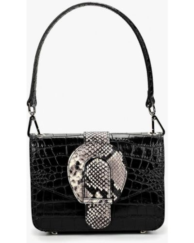 Кожаная сумка через плечо черная Madeleine
