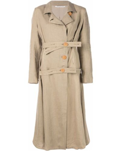 Расклешенное длинное пальто с капюшоном на пуговицах Cherevichkiotvichki