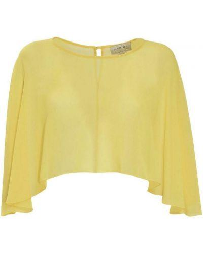 Żółta bluzka kopertowa Anna Molinari