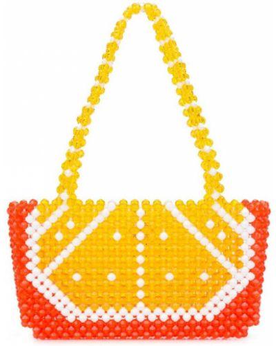 Желтая сумка-тоут Susan Alexandra