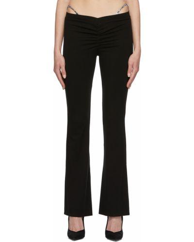 Czarne spodnie z nylonu Miaou
