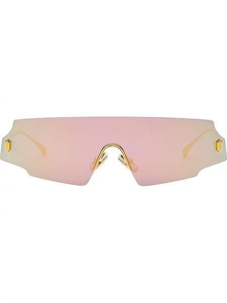 Prosto różowy okulary przeciwsłoneczne dla wzroku metal pozłacany Fendi