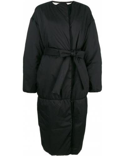Шелковый пуховик с поясом свободного кроя Givenchy