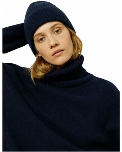 Niebieska czapka beanie Ivy & Oak