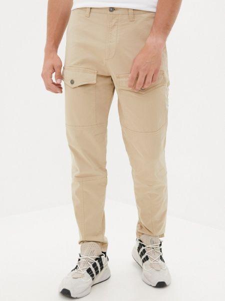 Бежевые брюки карго Angelo Bonetti