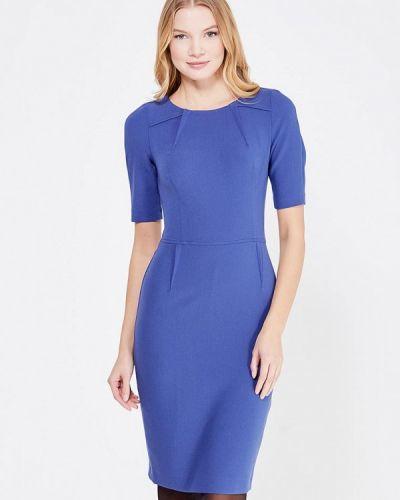 Синее платье-футляр Key