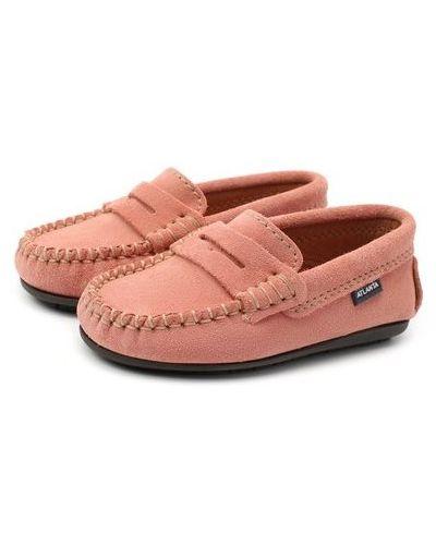 Розовые кожаные мокасины с подкладкой Atlanta Mocassin