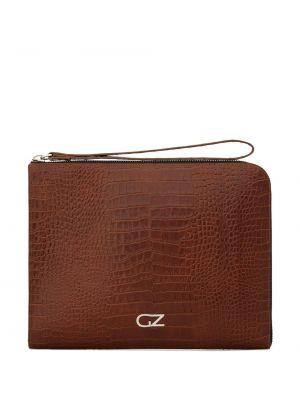 Skórzana torba od krokodyla brązowy Giuseppe Zanotti