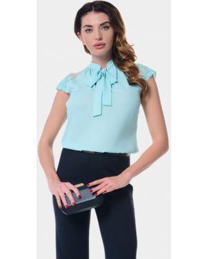 Блузка с коротким рукавом бирюзовая весенний Genevie