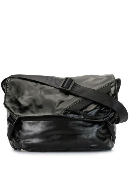 Черная нейлоновая спортивная сумка с низкой посадкой на шнурках Chanel Pre-owned