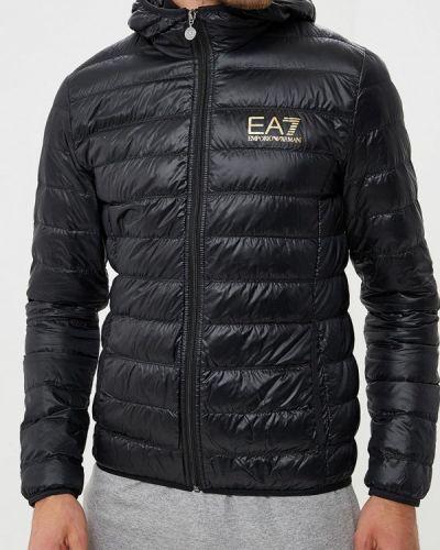 Зимняя куртка осенняя черная Ea7