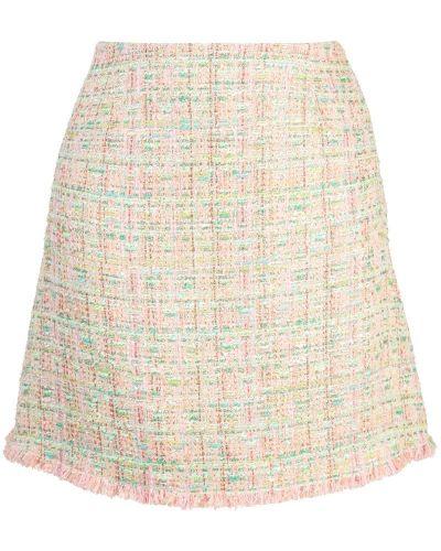 Плиссированная розовая юбка мини Edward Achour Paris