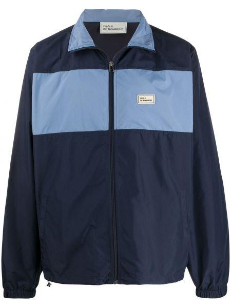 Niebieska długa kurtka z długimi rękawami Drole De Monsieur
