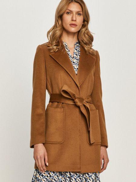 Шерстяная с рукавами коричневая куртка Max&co