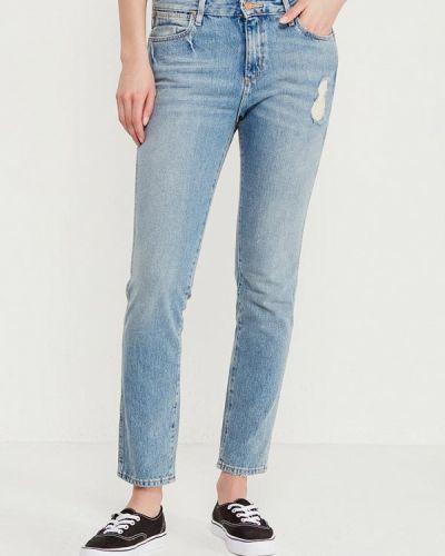 Голубые джинсы с высокой посадкой Wrangler