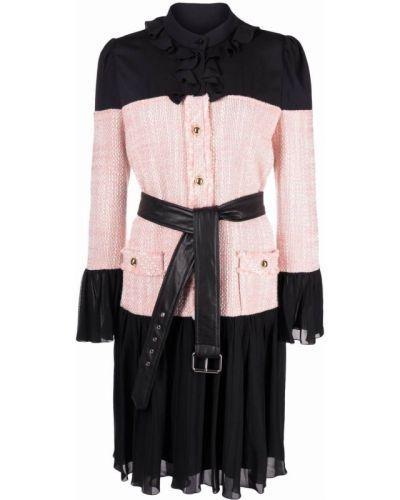 Розовое шелковое платье Moschino
