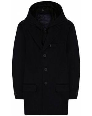 Пальто шерстяной синее Alessandro Borelli Milano
