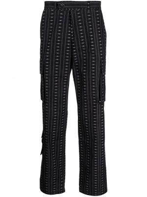 Czarne spodnie z paskiem Phipps