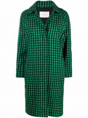Длинное пальто - зеленое Tela