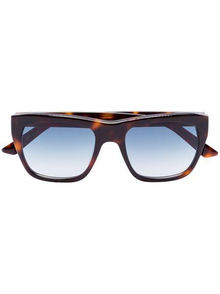 Brązowe okulary z akrylu vintage Kirk Originals