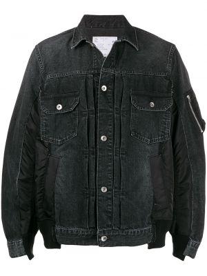 Klasyczne czarne jeansy bawełniane Sacai