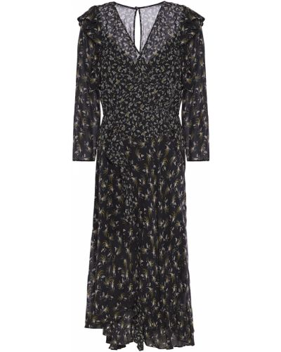 Czarna sukienka midi kopertowa Bailey 44