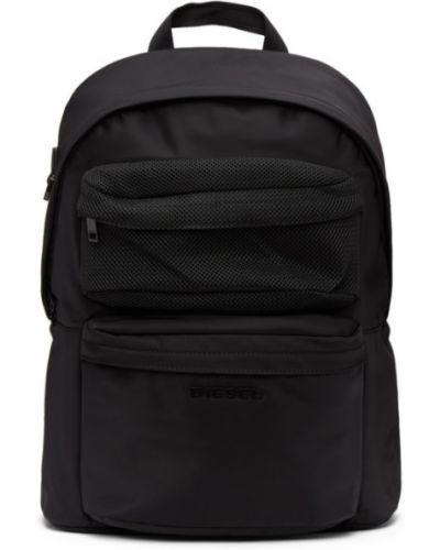Нейлоновый черный рюкзак для ноутбука с карманами Diesel