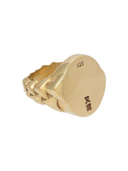 Pierścień metal złoto Pace