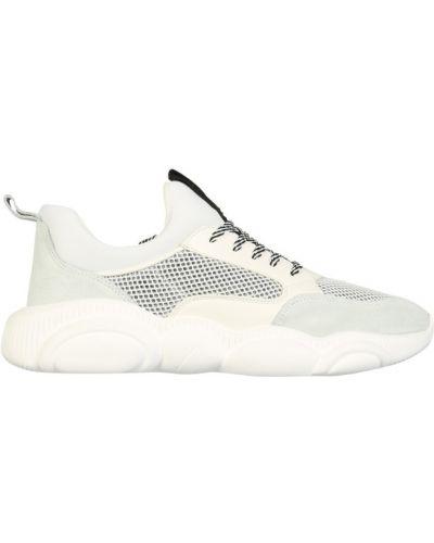 Sneakersy zamszowe z siateczką Moschino