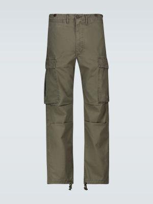 Оливковые брюки карго с заплатками с карманами оверсайз Rrl