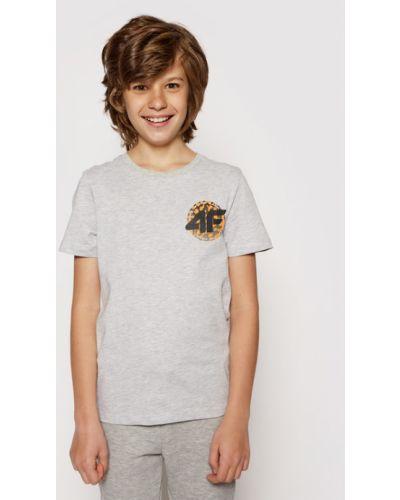 Szara t-shirt 4f