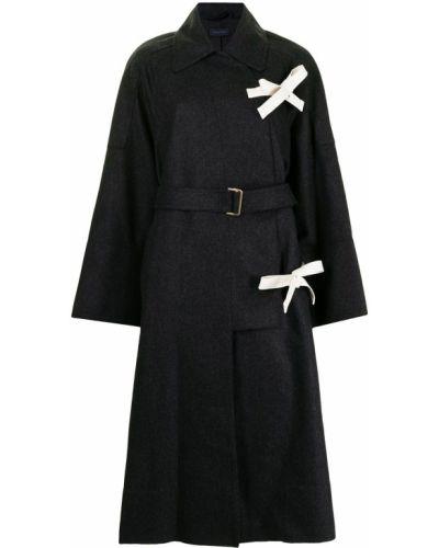 Шерстяное пальто - черное Eudon Choi