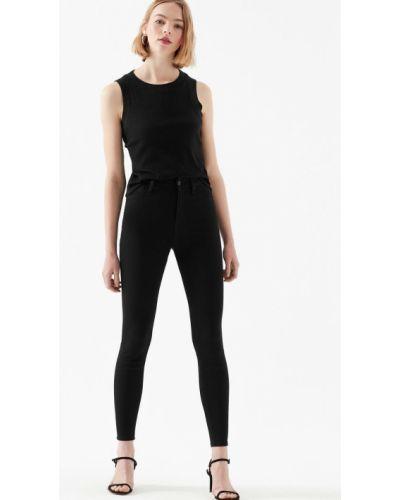 Зауженные черные джинсы на резинке Mavi