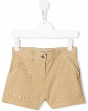 Хлопковые короткие шорты Ermanno Scervino Junior