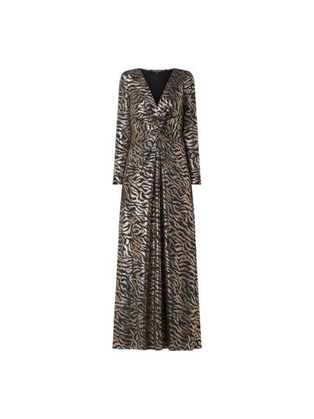 Sukienka rozkloszowana z długimi rękawami - czarna Ilse Jacobsen