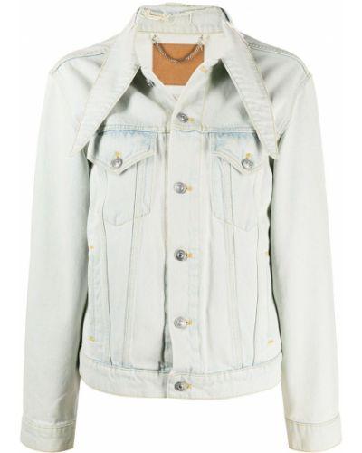 Синяя джинсовая куртка с воротником с карманами Balenciaga Pre-owned