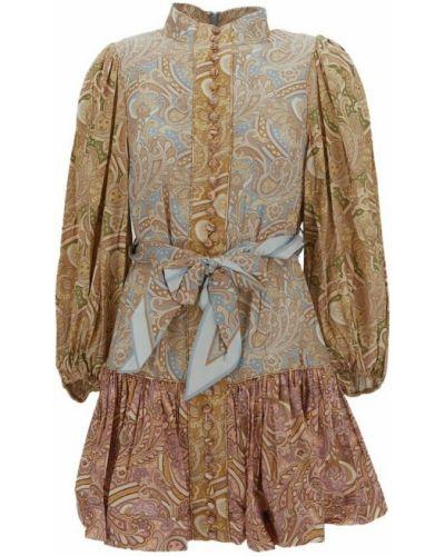 Brązowa sukienka Zimmermann