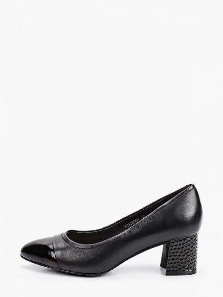 Кожаные туфли черные лаковые Pierre Cardin
