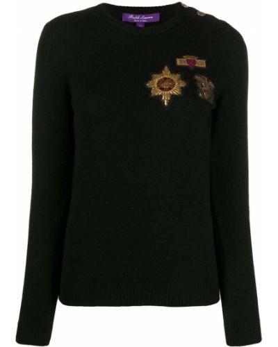 Кашемировый с рукавами джемпер с вышивкой Ralph Lauren