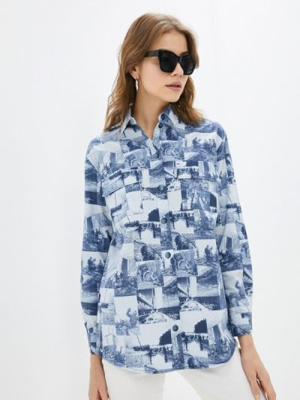 Рубашка - синяя энсо