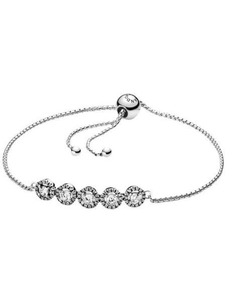 Серебряный браслет с камнями Pandora