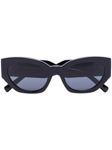 Муслиновые черные солнцезащитные очки Versace Eyewear