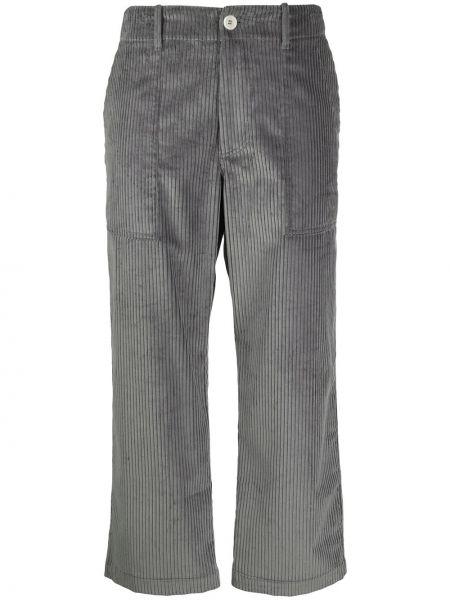 Серые прямые укороченные брюки с высокой посадкой на молнии Jejia