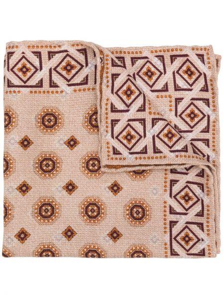 Розовый вязаный шелковый шарф Brunello Cucinelli