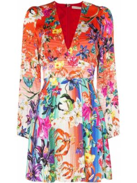 Шелковое платье макси - красное Mary Katrantzou